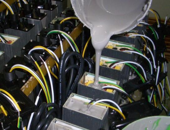 808AB-FX电子灌封胶 阻流性触变性环氧灌封胶 流平性好防渗胶 缝隙不漏胶